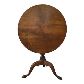 Antique 18th C. New England Tilt-Top Table For Sale