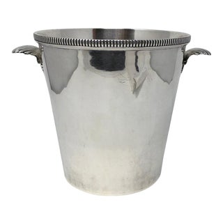 Vintage Silver Plate Ice Champagne Bucket For Sale