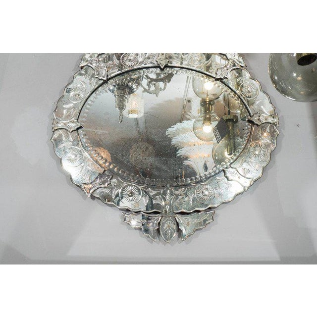 French 1940s French Venetian Style Mirror For Sale - Image 3 of 7