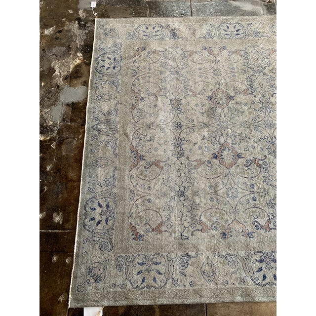 "Art Deco Vintage Faded Persian Rug - 9' 0.5"" X 6' 1"" For Sale - Image 3 of 7"