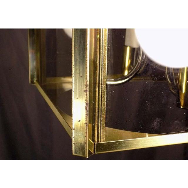 1970s Fredrick Ramond Post Modern Lantern Chrome & Brass Light Fixture For Sale - Image 11 of 13
