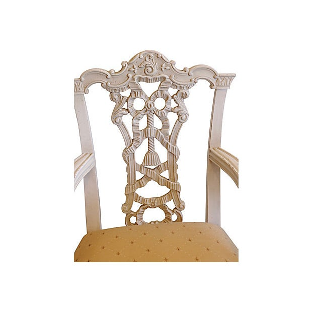 1960s Italian Hand-Carved Chairs - a Pair For Sale In Los Angeles - Image 6 of 8