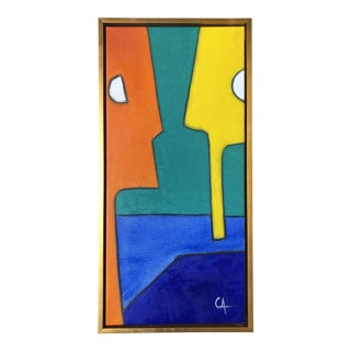 Original Abstract Oil Painting by Maximo Caminero For Sale