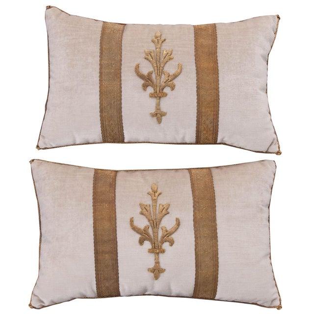 Antique Textile Pillows By B.Viz Designs - A Pair - Image 5 of 5