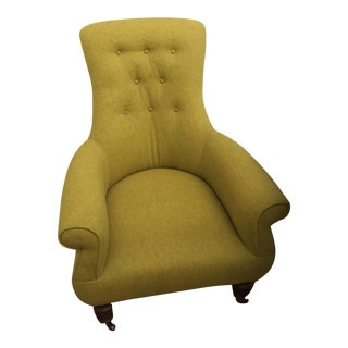 Mid-Century Modern-Inspired Bright Green Anthropologie Lounge Chair