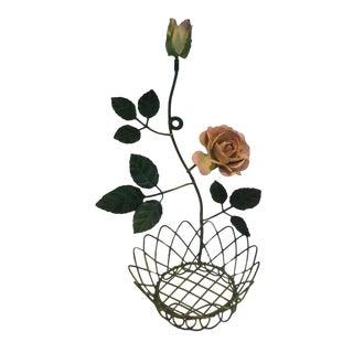 Tole Flower Pot Holder For Sale