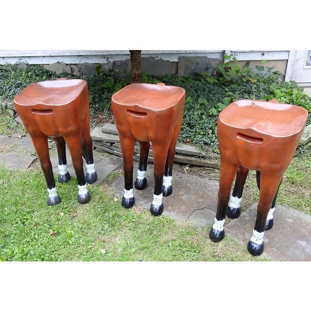 Horse-Shaped Bar Stools - Set of 3 - Image 2 of 6