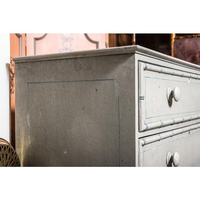 Shabby Chic Tall Painted Pine Chest of Drawers C. 1850 For Sale - Image 3 of 9