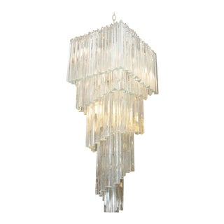 Camer Five-Tier Murano Glass Chandelier For Sale