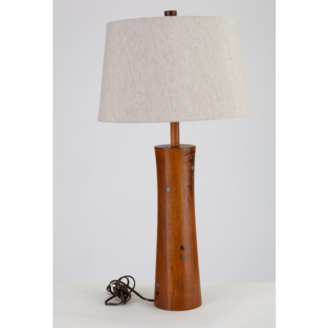 Marshall Studios Wooden Table Lamp With Tile Inlay by Gordon & Jane Martz For Sale - Image 4 of 10