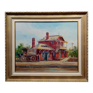 Ben Abril - Santa Anita Station - Oil Painting For Sale