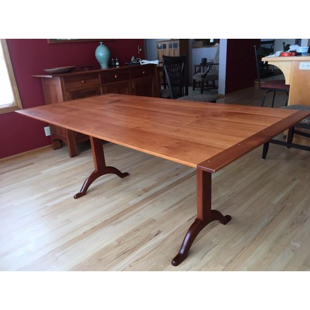 Shaker Cherry Trestle Dining Table For Sale - Image 9 of 9