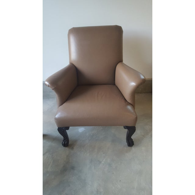Michael Taylor Wing Arm Leather Chairs - A Pair - Image 3 of 5
