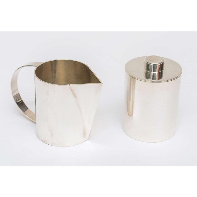 Swid Powell Silver Plate Swid Powell for Calvin Klein Three-Piece Coffee Service For Sale - Image 4 of 11