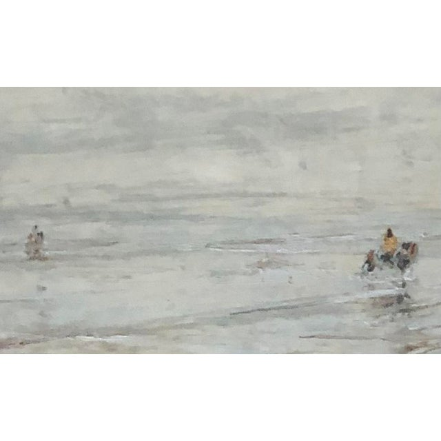 Early 20th Century Early 20th Century Edwardian Style Fishermen Scene Oil Painting by Julius Seyler, Framed For Sale - Image 5 of 8