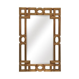 Artemis Open Work Gold Frame Accent Mirror For Sale