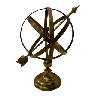 Vintage Brass Armillary Sculpture For Sale