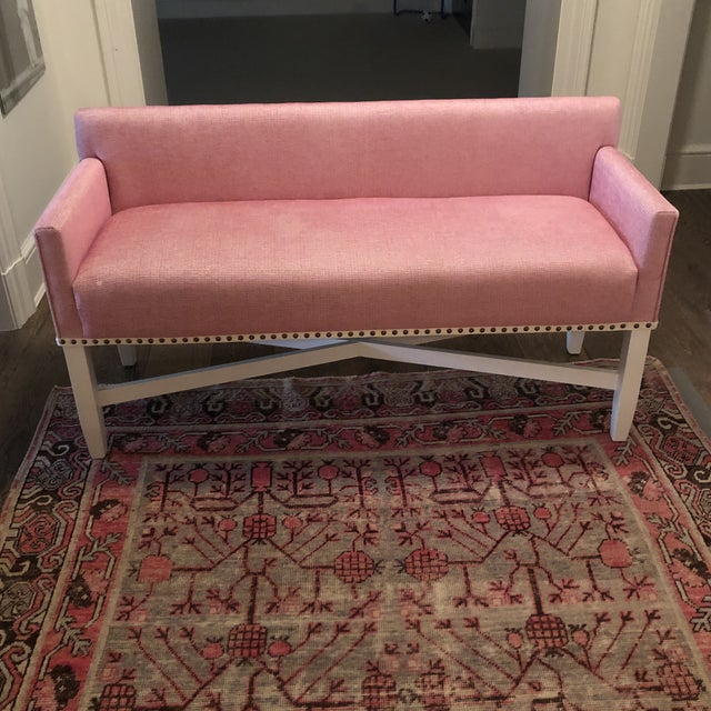 Pink Pink Upholstered Oomph Tini X Bench For Sale - Image 8 of 13