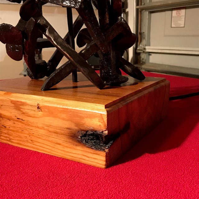 Railroad Spike Salvage Lamp - Image 4 of 5