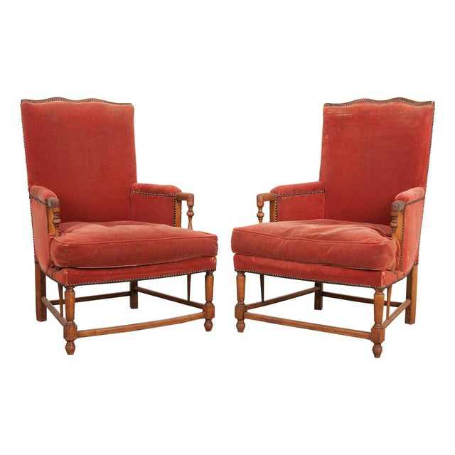 19th Century French Provincial Walnut Fauteuils - a Pair For Sale - Image 10 of 10