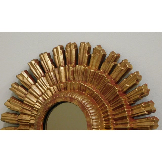 Gold Small Gold Gilt Sunburst Mirror For Sale - Image 8 of 13