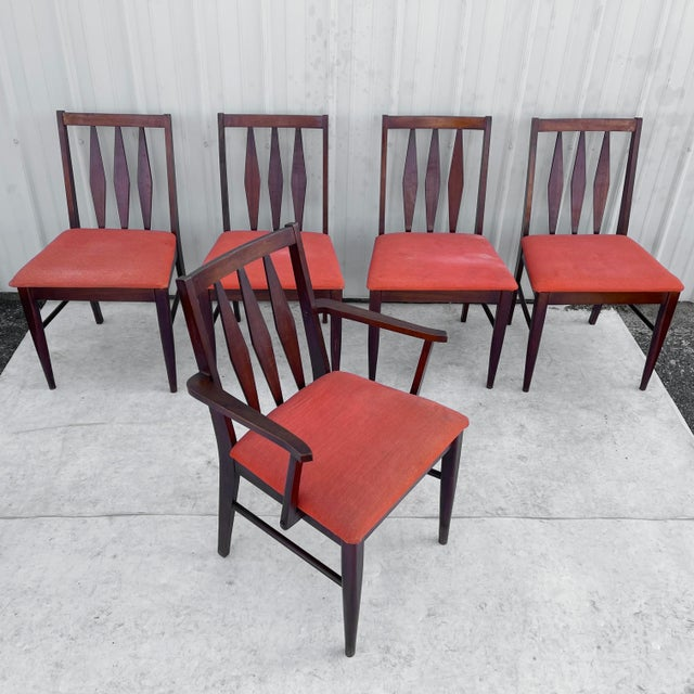 Mid-Century Modern Mid-Century Modern Dining Set With Five Chairs For Sale - Image 3 of 13