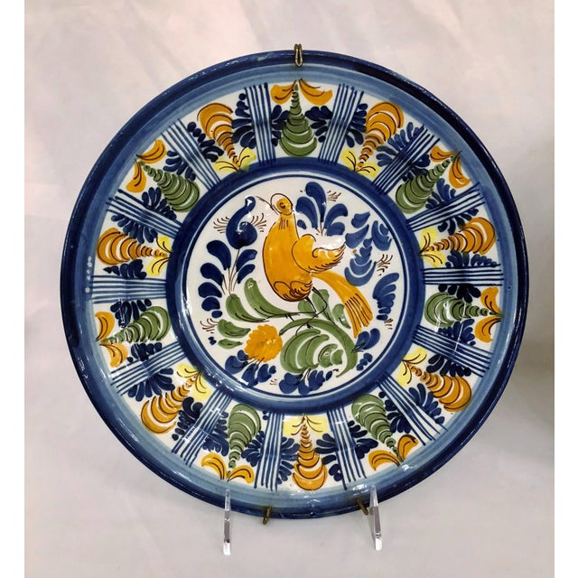 French Pair Antique French Faience Chargers, Circa 1890-1910. For Sale - Image 3 of 4