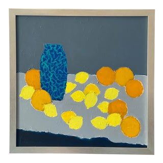 Contemporary Abstract Still Life Painting by Lars Hegelund, Framed For Sale