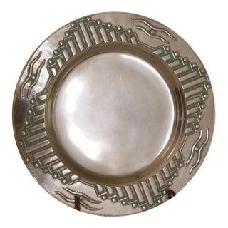 Vintage Wilton Armetale Southwest Round Platter For Sale