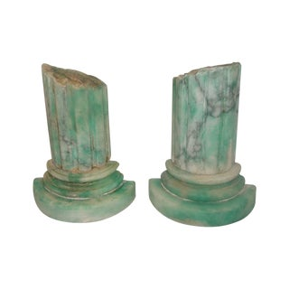 Italian 20th Century Marble Bookends - Pair For Sale