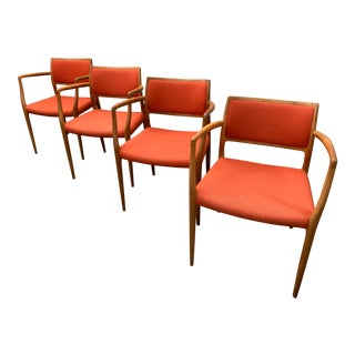 1960s Niels Otto Moller for j.l. Mollers Teak Dining Armchairs- Set of 4 For Sale