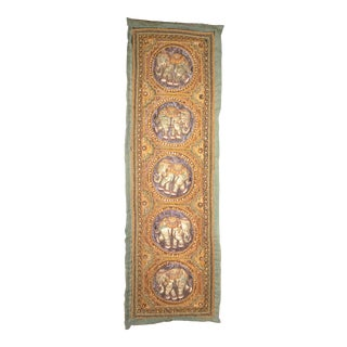 Early 20th Century Antique Burmese Embroidered Kalaga Tapestry For Sale