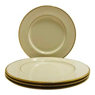 "Vintage Lenox ""Mansfield"" Pattern Set of 4 Dinner Plates For Sale"
