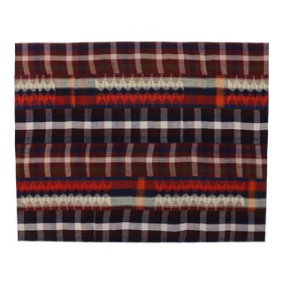 Vintage Tartan Plaid Area Rug - 8′10″ × 11′3″ For Sale