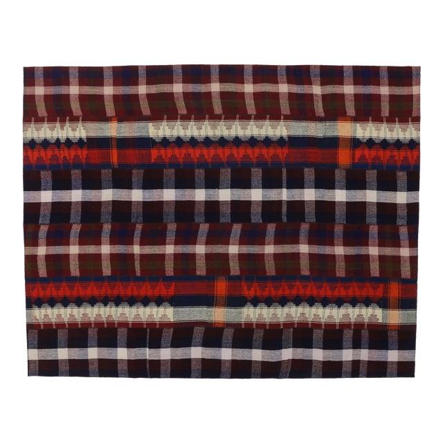 Vintage Tartan Plaid Area Rug - 8′10″ × 11′3″ For Sale