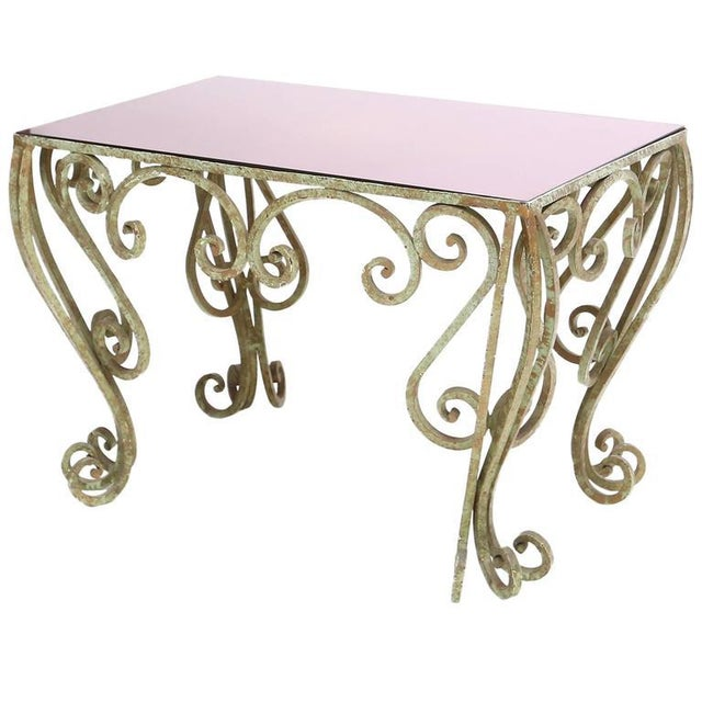Brass Wrought Iron Coffee Table For Sale - Image 7 of 7