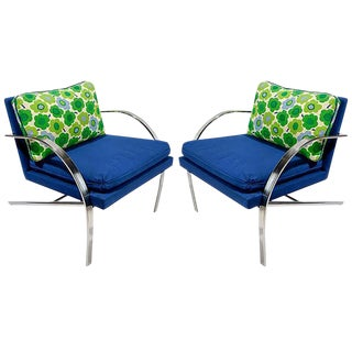 "Pair of ""Arco"" Club Chairs in the Style of Paul Tuttle For Sale"