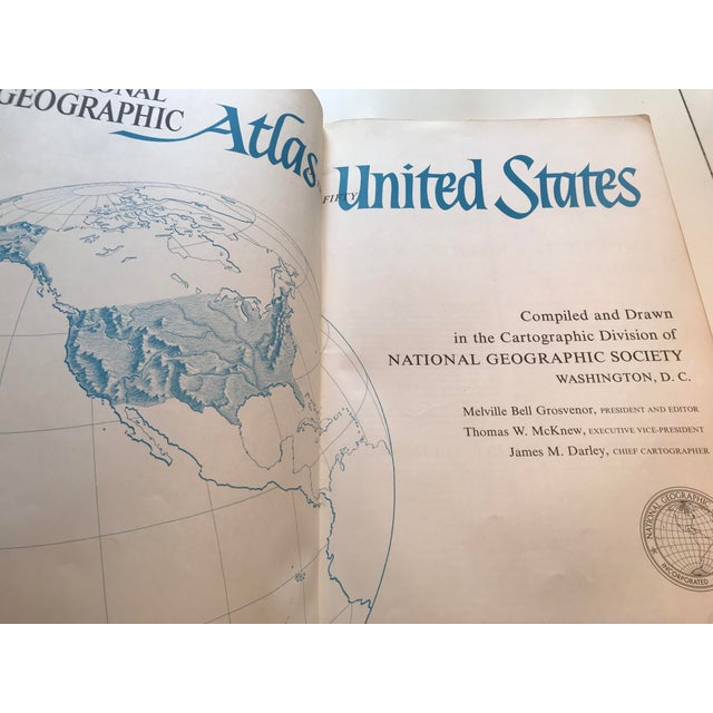 Vintage 1960 national geographic u s atlas book chairish fantastic old atlas of the 50 united states made by national geographic in 1960 gumiabroncs Choice Image
