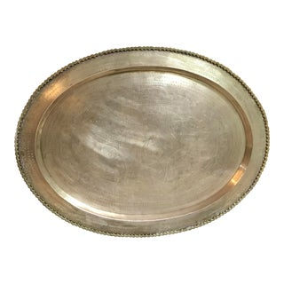 Large Brass Tray/Wall Hanging For Sale
