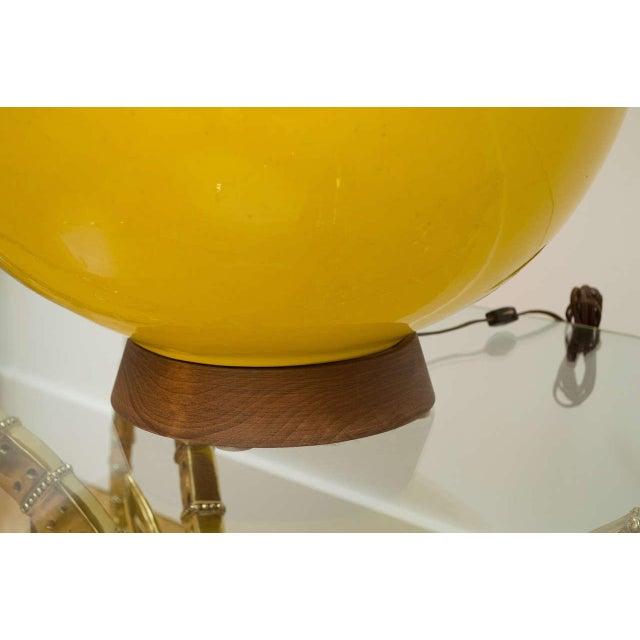 Ceramic Round Yellow Ceramic Lamp For Sale - Image 7 of 9