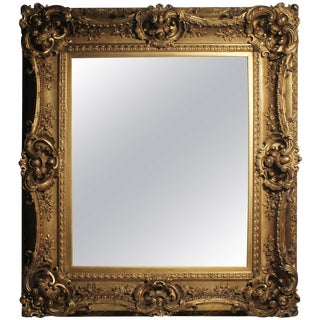 Antique Italian Gilt 19th Century Picture Frame or Mirror Baroque Rococo Style For Sale