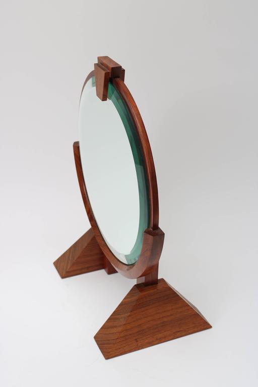 American Artisan Adjustable Table Mirror In Mahogany, Walnut U0026 Brass    Image 3 ...