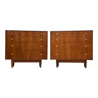 John Stuart Walnut Dresser Chests - a Pair For Sale