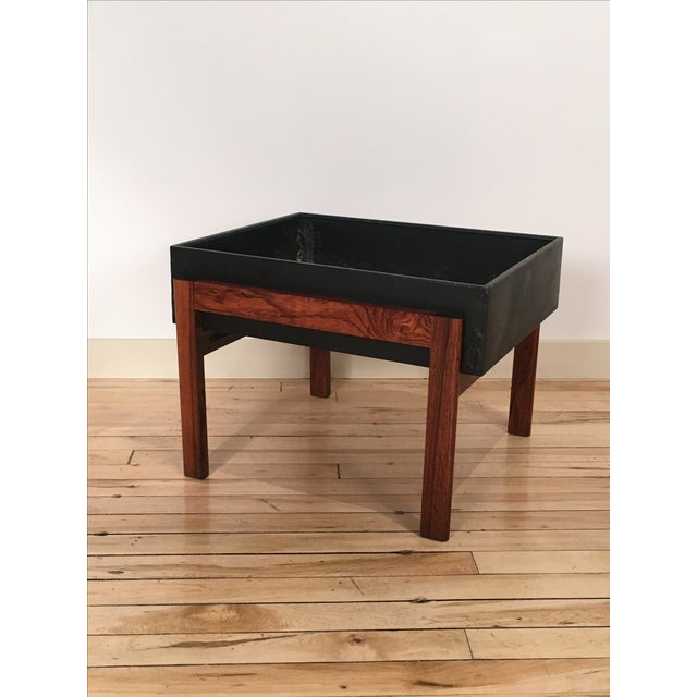 Danish Modern Rosewood Planter - Image 2 of 4