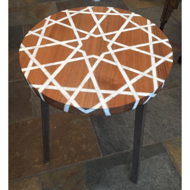 This one of kind table made in Damascus Syria by on of the best hand crafted furniture artist. The wood is natural walnut...