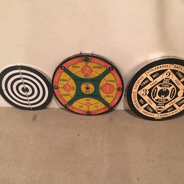 American Classical Vintage Dartboards - Set of 6 For Sale - Image 3 of 11