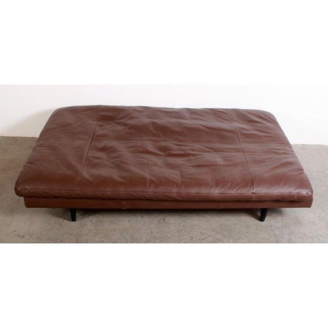 Mid-Century Modern DeSede Ds169 Brown Leather Convertible Sofa For Sale - Image 3 of 12