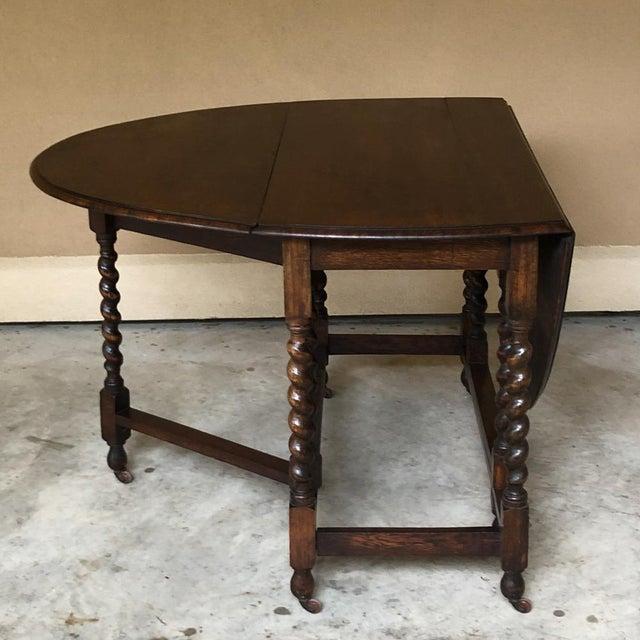 Antique Barley Twist Gateleg Drop Leaf Table For Sale - Image 9 of 13