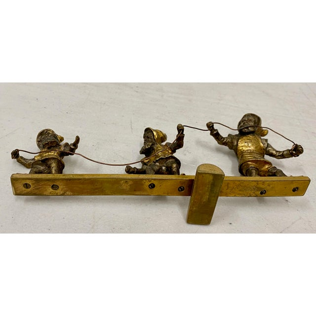Early 20th C. Gilded Bronze Sculpture of Three Balancing Dwarf's For Sale - Image 4 of 5