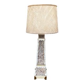 Seashell Encrusted Vintage Handmade Lamp For Sale